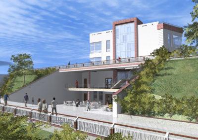 Предложение по строительству оздоровительного учреждения с организацией связи с набережной