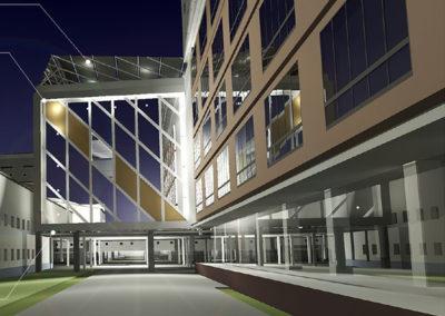 Торгово-гостиничный комплекс. Многоуровневый паркинг с пристроенным офисным зданием