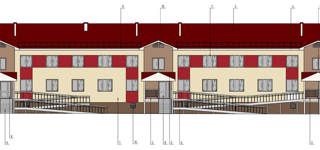 Двухэтажные многоквартирные жилые дома