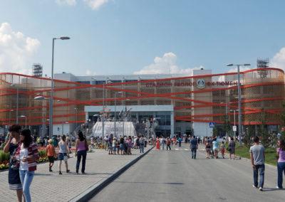 Разработка фасадов стадиона Геолог