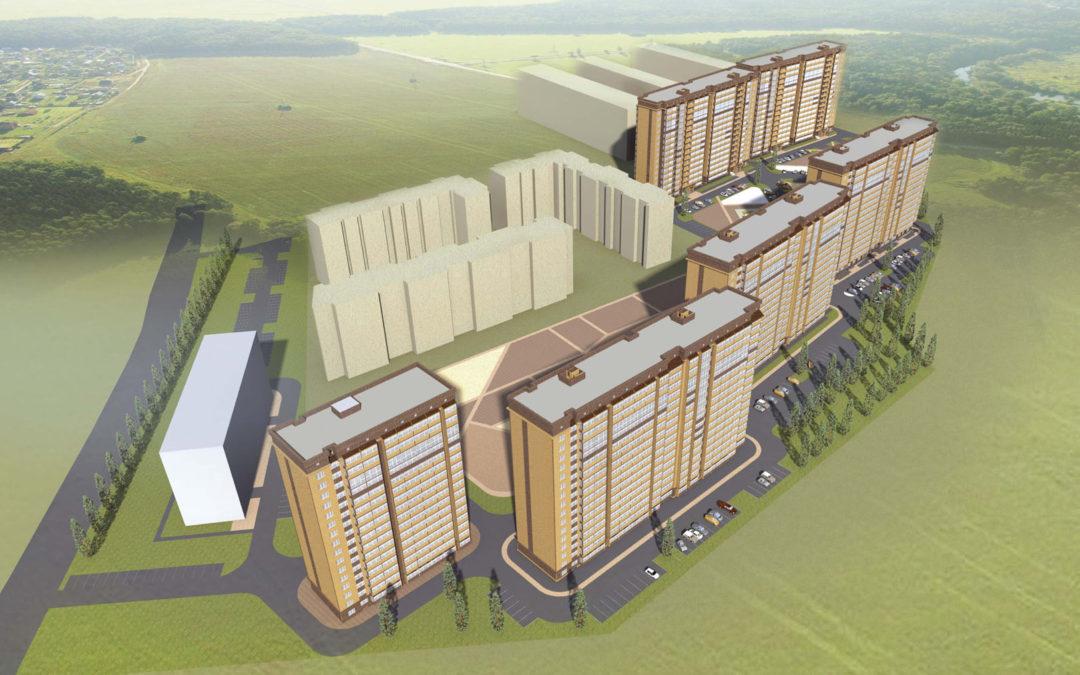 Квартал многоэтажной застройки многоквартирных жилых домов