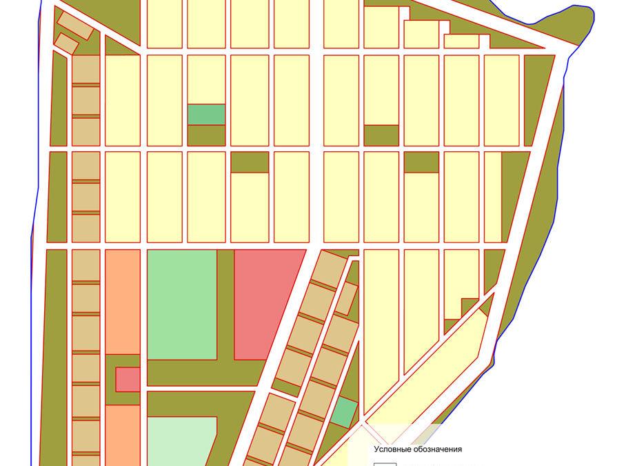 Предложение по планировке, межеванию и застройке территории