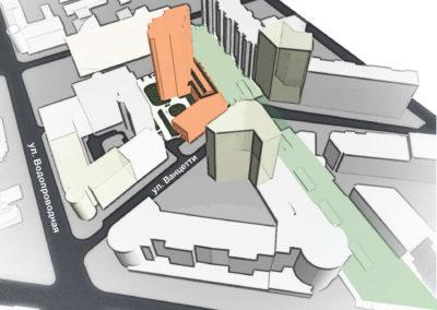 Концепция застройки комплекса многоэтажного жилого дома с объектами соцкультбыта