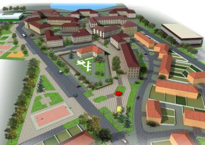 Эскиз генерального плана застройки малоэтажного поселка