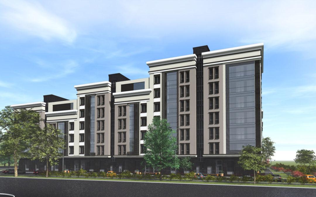 Общественно-жилой комплекс в составе квартала жилых домов элит класса с паркингом