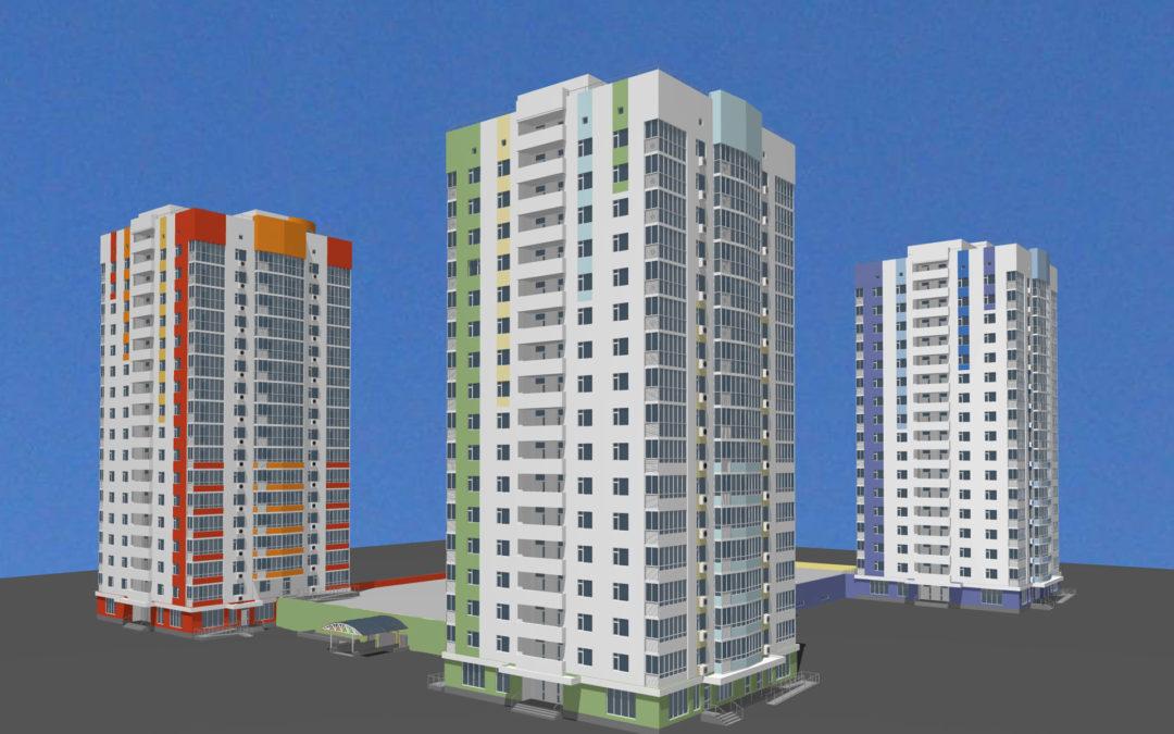 Общественно-жилой комплекс со стоянкой